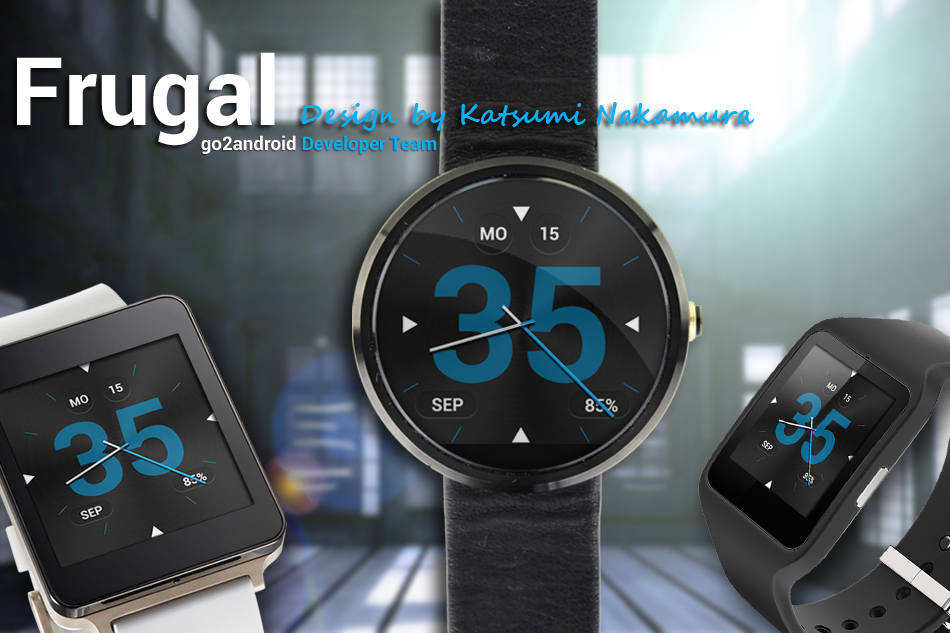 FRUGAL Android Wear WatchFace by Ashigaru Design