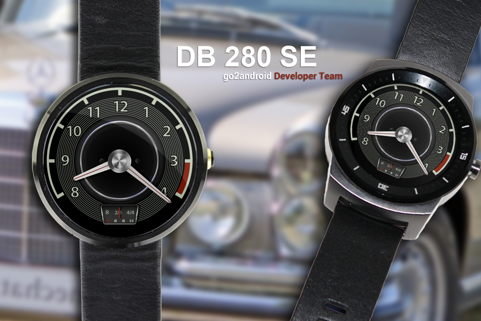 Mercedes-Benz 280 SE Android Wear WatchFace